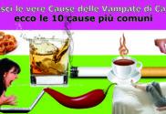 causa delle vampate di calore menopausa