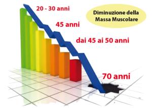 diminuzione massa muscolare in menopausa
