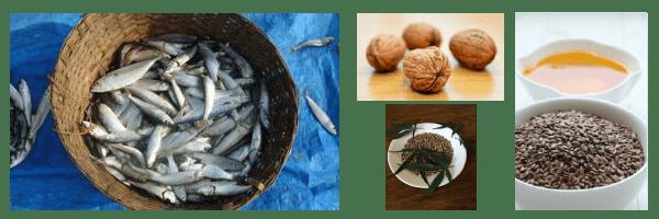 pesce azzurro noci semi di lino semi di canapa